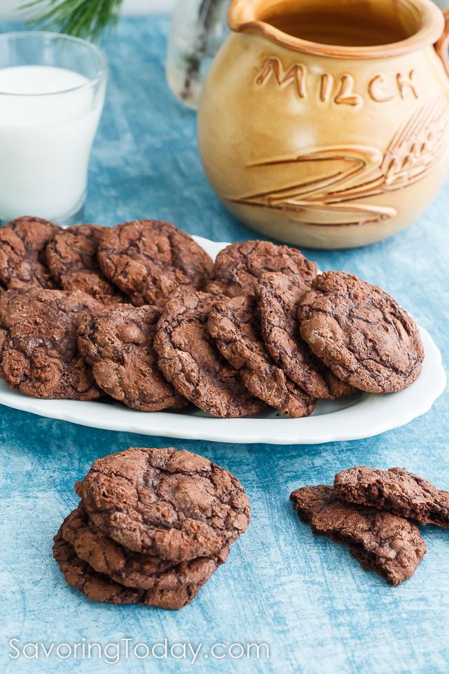 Soft, chewy chocolate cookie recipe made with Ghirardelli Brownie Mix make every bite taste like an edge pices. Easiest cookies you will ever make.