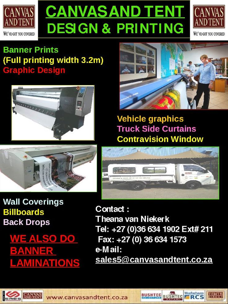Design and banner printing . Big or small