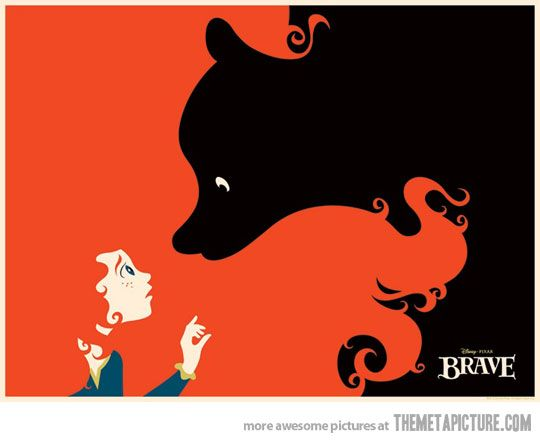 A really creative 'Brave' poster