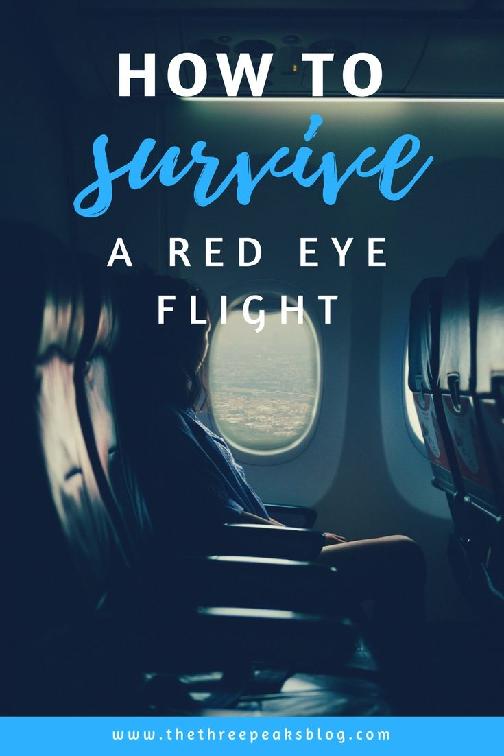 How to survive long, tiring red eye flights