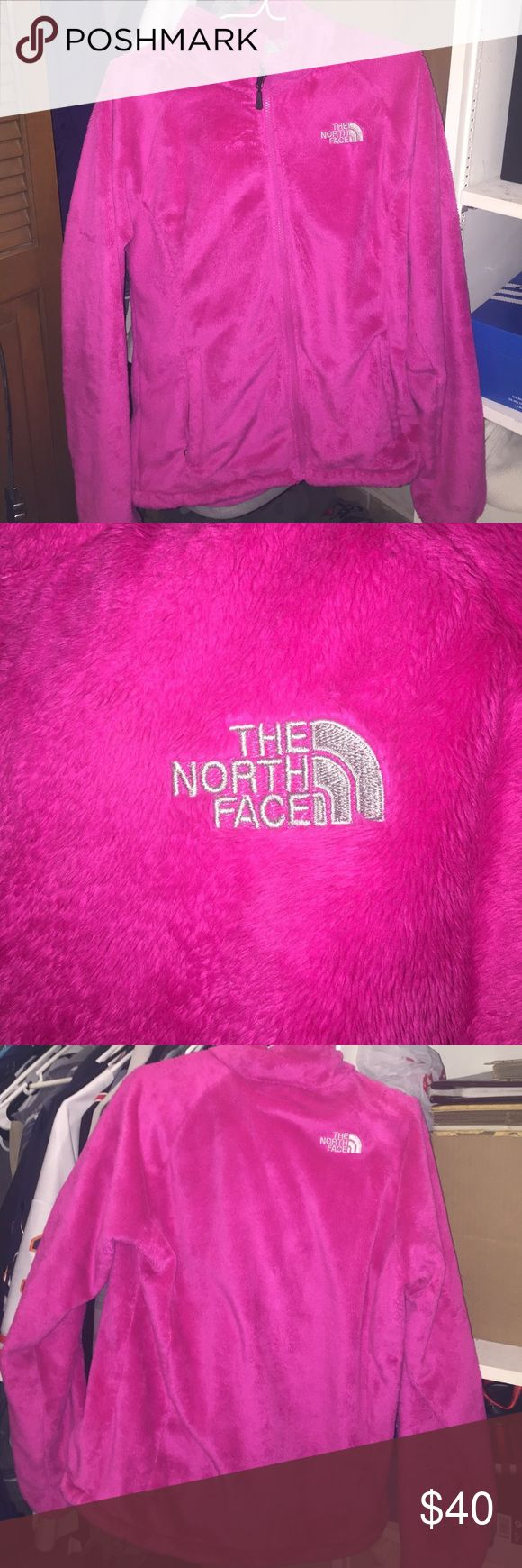 "FINAL PRICE DROP!! North Face ""fuzzy"" zip up Bright pink North Face ""fuzzy"" zip up. Women's large. Only worn a few times. No stains or tears. Non negotiable no lower than $35.00 please North Face Jackets & Coats"
