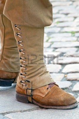WWII military boot gaiters, American | Costume | Fashion ...