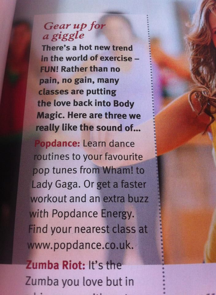 Popdance in Slimming World magazine