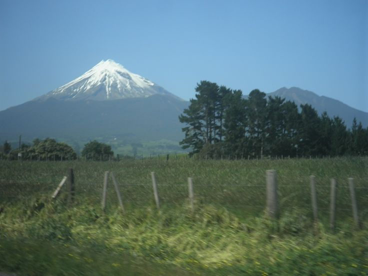 A view of Mount Egmont on the way home from New Plymouth.
