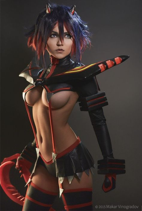 Ryuko Cosplay. I don't watch this but these are beautiful.