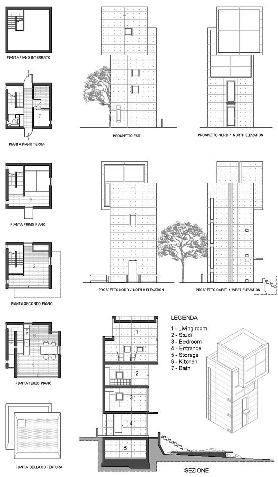 4 X 4 House. Tadao Ando. Kobe, Japan. 2004