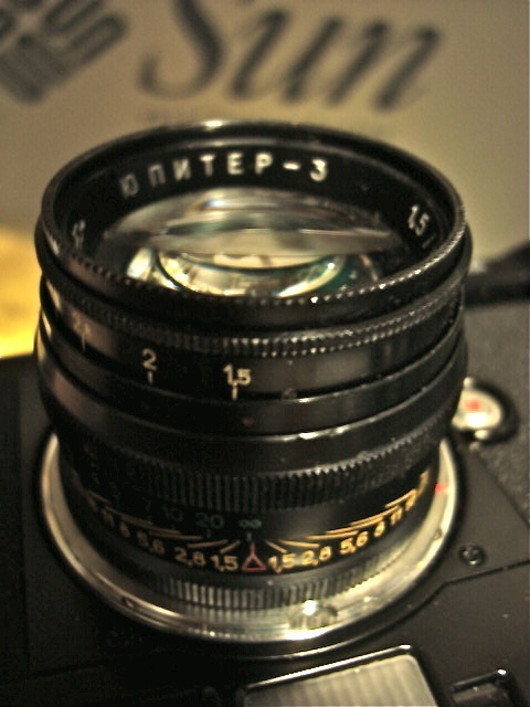 Jupiter 3: Badly made Russian copies of the Zeiss Sonnar.  But I enjoy the pictures it makes immensely.
