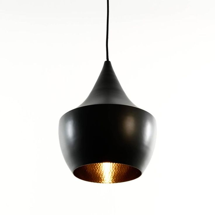 Tom Dixon   Beat Fat Suspension Lamp   Black/brass/lacquered/cable Black