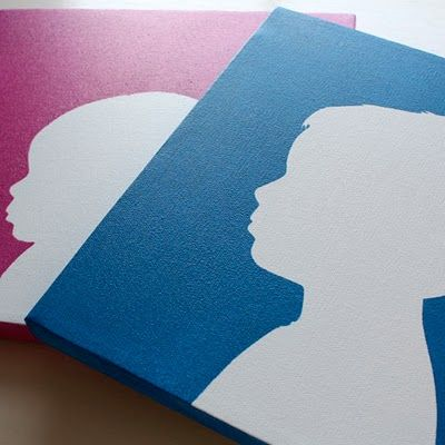 A REALLY easy way to do silhouettes -- great idea!  It was so easy & I love the way it turned out.
