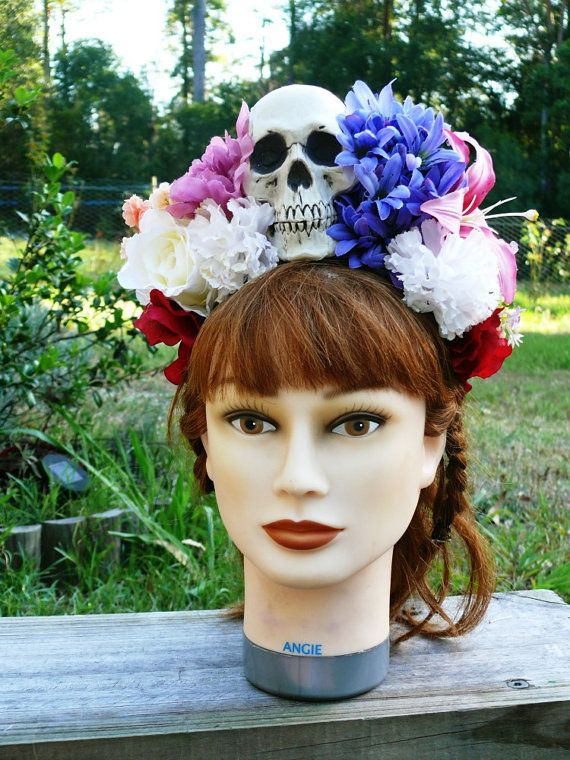 Day of the Dead/Frida Kahlo/Lana Del Ray by MissMaestroDesigns