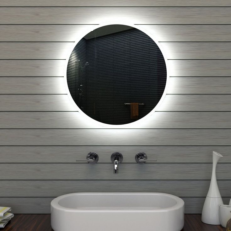 Badezimmerspiegel Badspiegel Wandspiegel LED Beleuchtung Rund 60cm MLE6602: Amazon.de: Küche & Haushalt