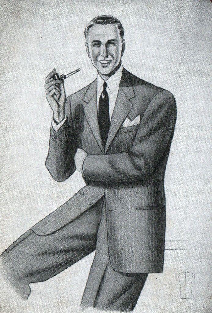 eleganza maschile anni '40