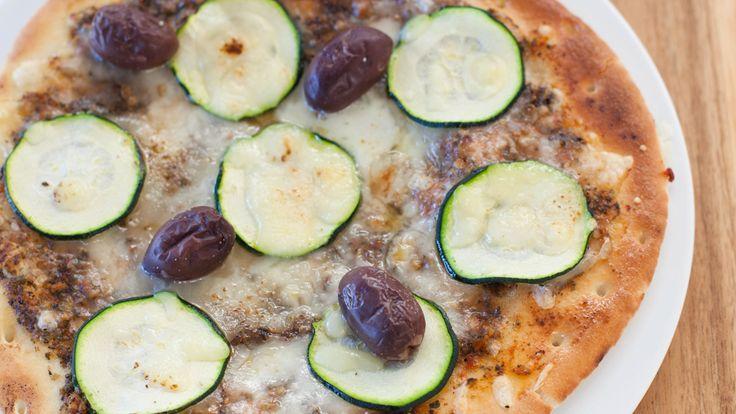 Pizzas aux courgettes El Greco sur pitas
