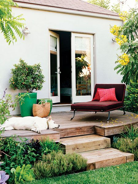 Raised deck // Sunset - Photo: Coral Von Zumwalt. lovely place to relax on afternoons.