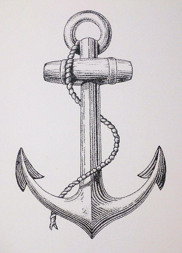 Dotwork Anchor, 2014 on Behance