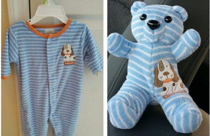 keepsake bear made from baby clothes #Keepsake #Bear #Baby