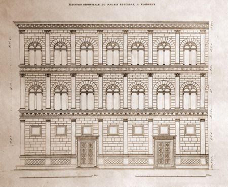 Leon baptista alberti palazzo rucellai florencie 2 pol 15 stol renesance pinterest leon - I giardini di palazzo rucellai ...