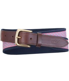 Canvas Belts for Men: Vineyard Whale Canvas Club Belt – Vineyard Vines