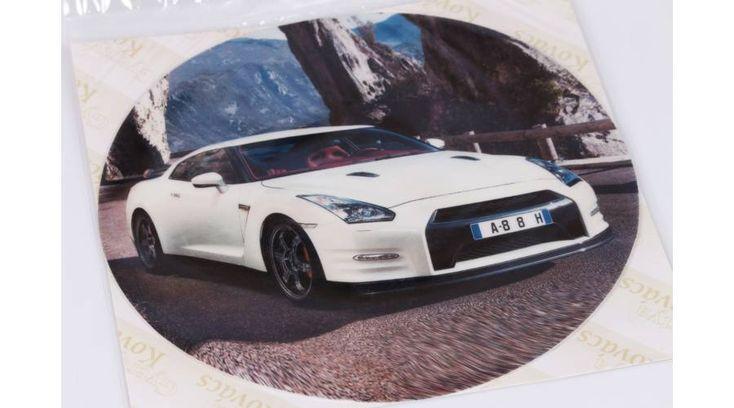 Fehér autó tortaostya - Süss Velem.com