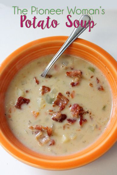 The Pioneer Woman's Potato Soup is the best potato soup I've ever eaten! Seriously!