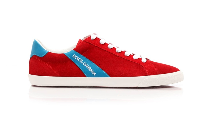 Suede leather lace-up sneakers with rubber sole. Tone-on-tone finishes for these classical sport shoes by @Dolce & Gabbana
