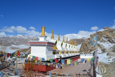 Thiksay Gompa or Thiksay Monastery is a gompa affiliated with the Gelug sect of Tibetan Buddhism. It is located on top of a hill in Thiksey village, approximately 19 kilometres east of Leh in Ladakh, India.