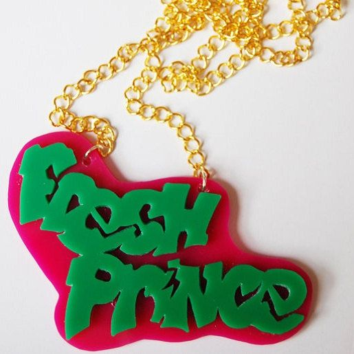 Inspirational Fresh Prince of Bel Air necklace by VonTrashJewellery on Etsy
