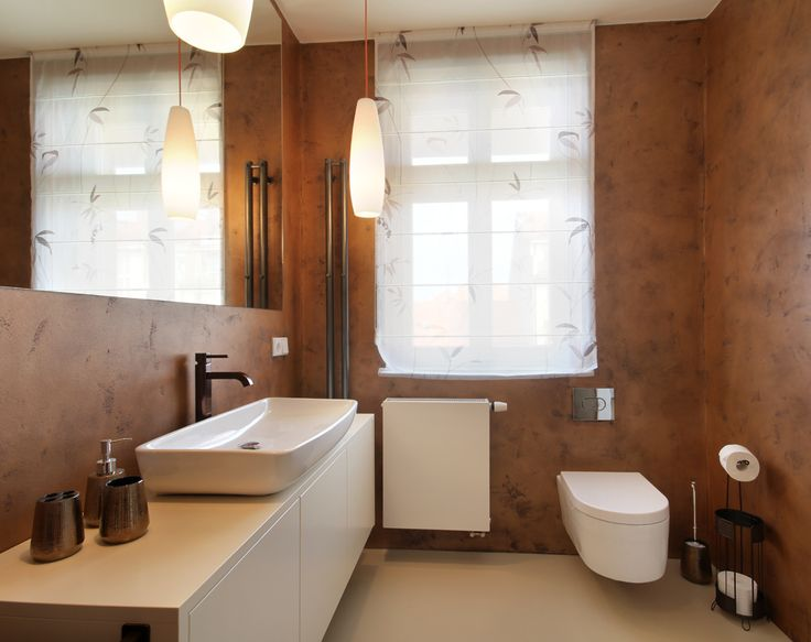 Bathroom in copper design