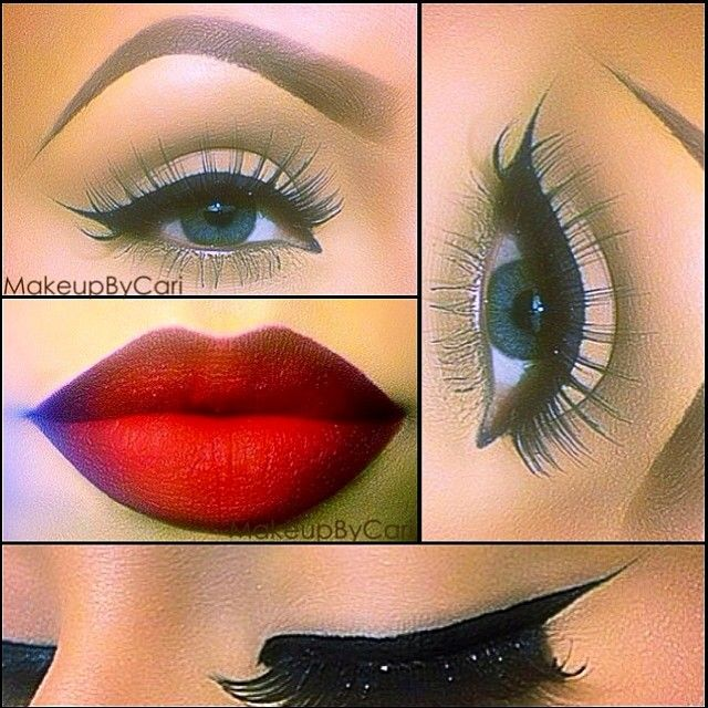 Perfect retro pin up make up. One of my fave ways to line my eyes!