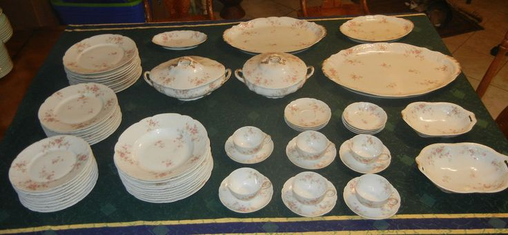 60 Piece Vintage Set Theodore Haviland Limoges France China Includes Serving Pcs #TheodoreHaviland