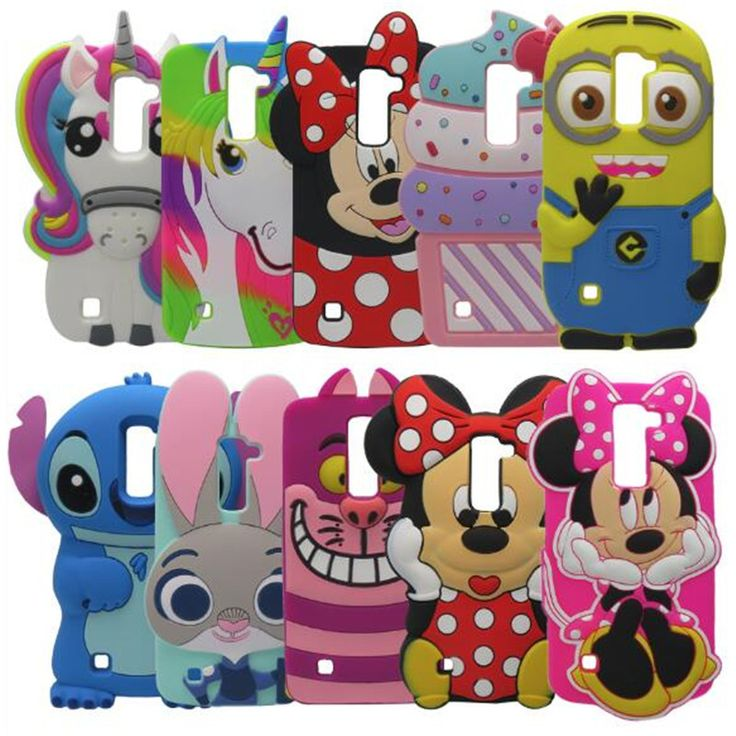 3D Cartoon Smiling Minnie Soft Silicone Back Cover Case For LG K7 K 7 Q7 Free Shipping