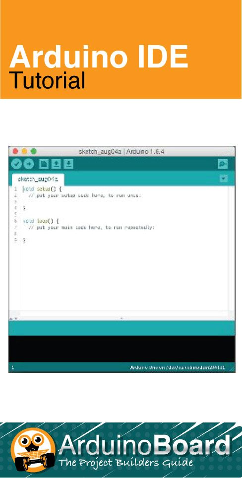 When you open the Arduino IDE, you get a screen similar to the one shown. Now what? In this tutorial we will take a short look at the essentials. CLICK HERE for Tutorial - https://arduino-board.com/tutorials/ide