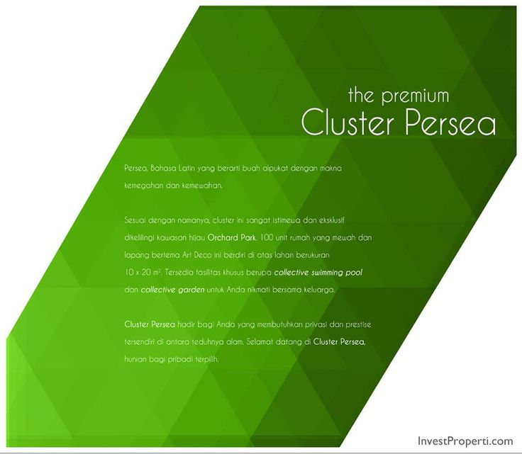 Brosur Cluster Persea
