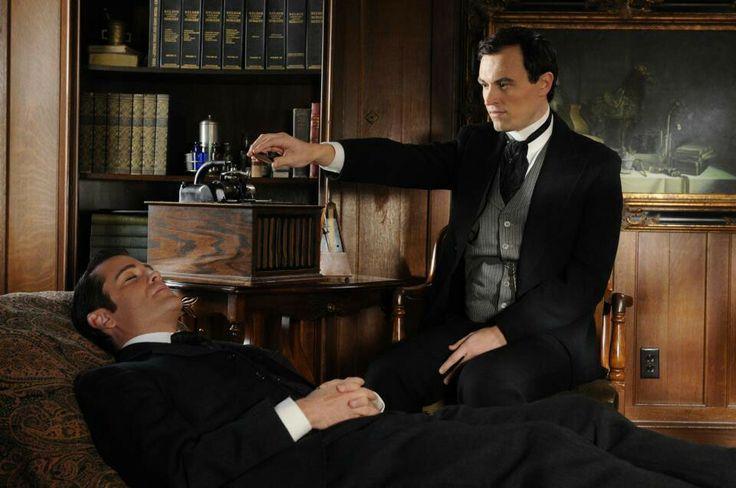 Murdoch is hypnotized.