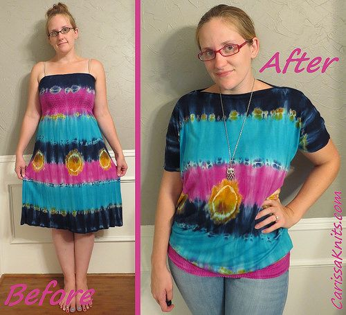 Tie-Dye Top - Before & After