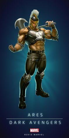 Ares - Marvel Comics Puzzle Quest (Dark Avengers)