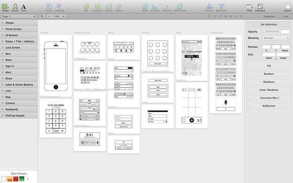 iPhone app wireframing kit - Web Elements - 1