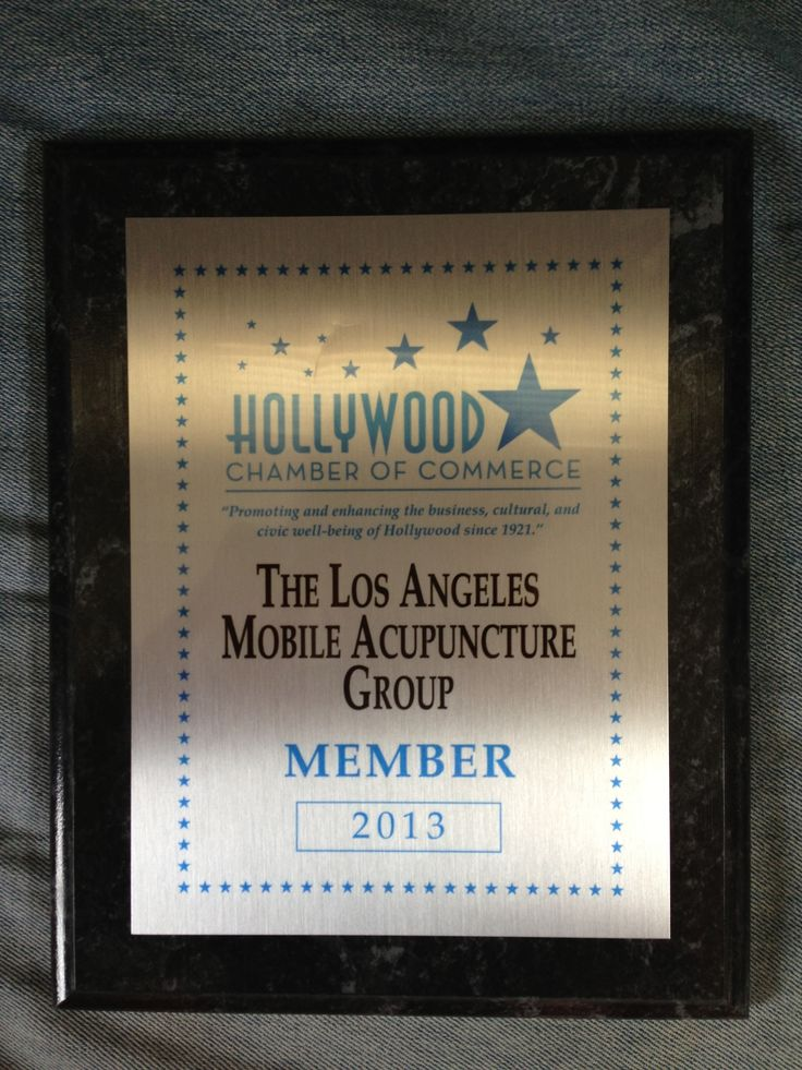 Los Angeles Mobile Acupuncture joined the Hollywood Chamber of Commerce March 2013. We received our plaque on June 26th @ Rockwell Table & Stage. #chamberofcommerse #hollywood