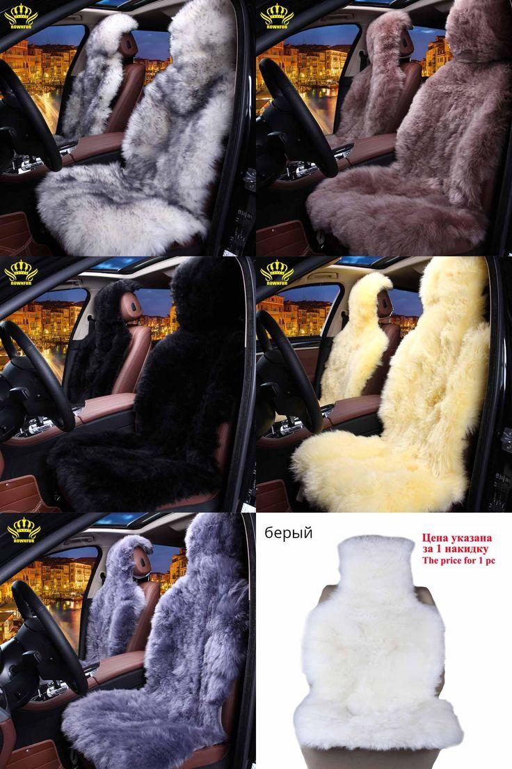 [Visit to Buy] 100%Natural fur Australian sheepskin car seat covers universal size,6 colors,Long Hair for car lada granta for car kalina priora #Advertisement