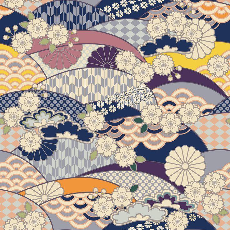 цветет мае-июне, картинки узоров японии так или