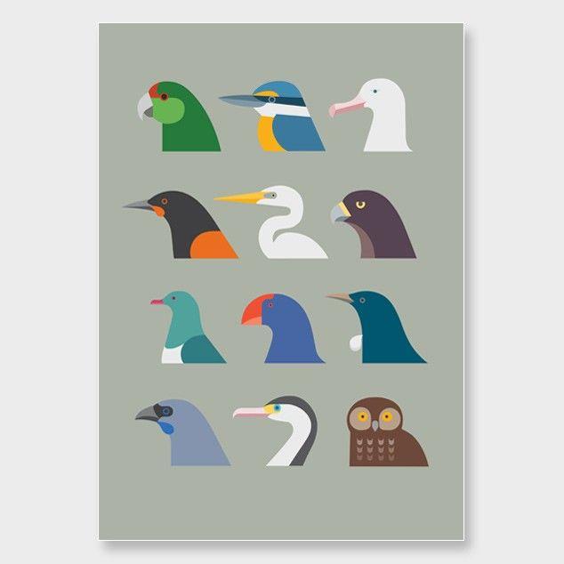 Bird Portraits Art Print by Hamish Thompson