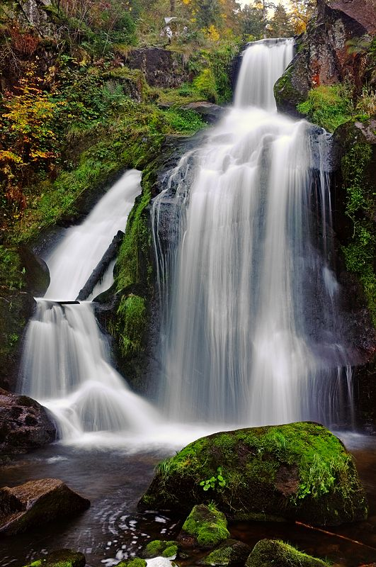 Black Forest Waterfall ~ Gutach River ~ Baden-Wurttemberg ~ Triberg ~ Schwarzwald ~ Germany
