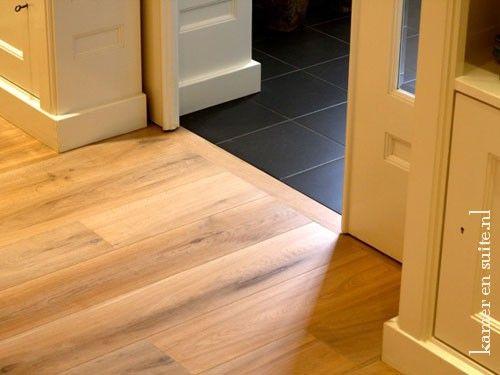 Overgang van parket naar tegelvloer vloer pinterest van - Beeld tegel imitatie parket ...