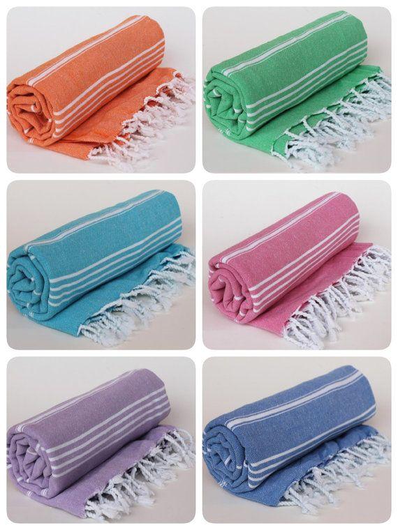 Turkish Peshtemal Towel Bridesmaid Gift Fouta Towel Beach Towel Bath by BurlapUSA $10.45