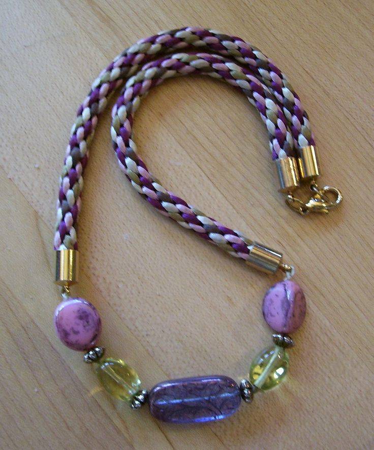 Sample of the project I teach in Beginning Kumihimo for Jewelry Designers