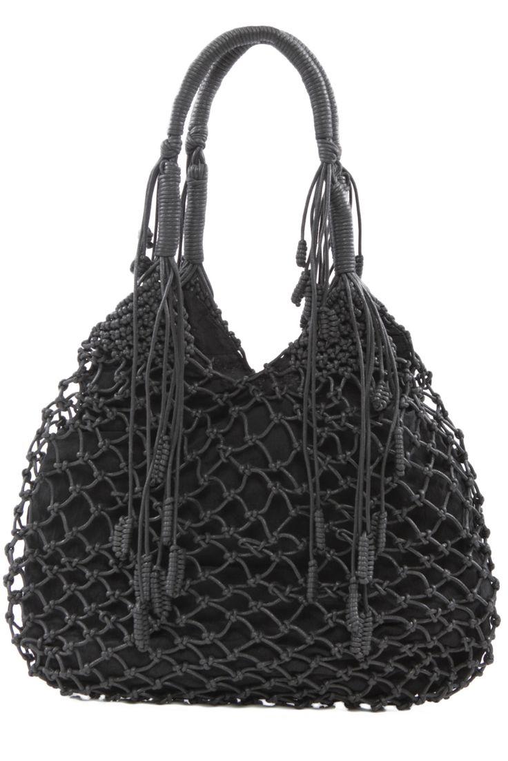 Monserat de Lucca — Leather Macrame Bag. Ooohh..I want.
