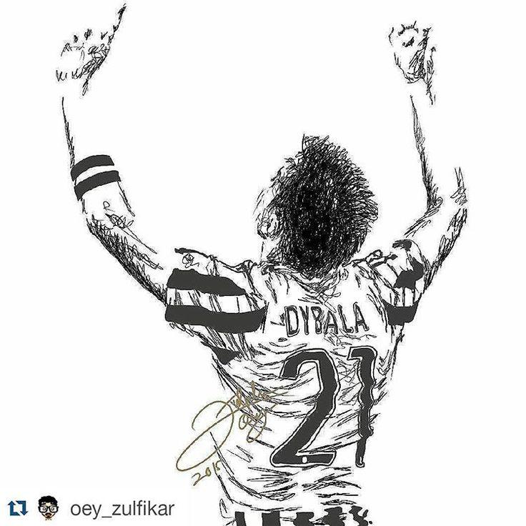 """#Repost @oey_zulfikar with @repostapp ・・・ ""Paulo Dybala"" ⚪♥⚪♥ @paulodybala . Wonderful work of art again of our little hitman ⚽ ⚫️⚪️ #juventus…"""