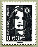 Marianne de Briat La Vème République au fil du timbre - Timbre de 2013