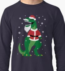 Ugly Christmas Sweater Dinosaur T Rex Santa