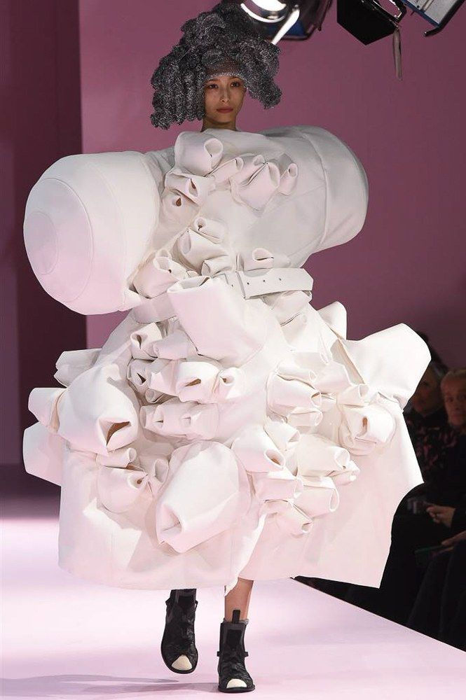Comme des Garçons Fall 2017 Ready-to-Wear Fashion Show look 16 Behold and find a definition if you dare